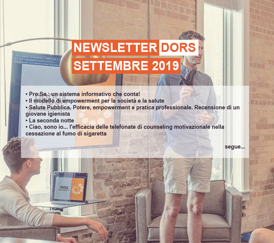 Cover Newsletter DORS settembre 2019