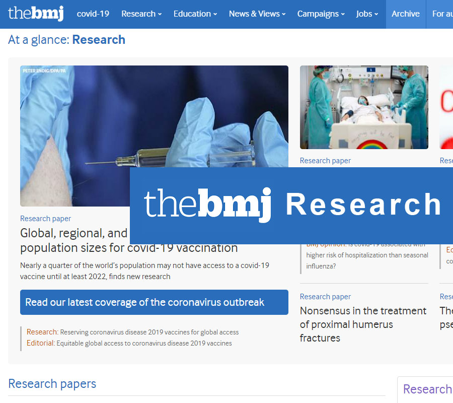 Notizia BMJ Research