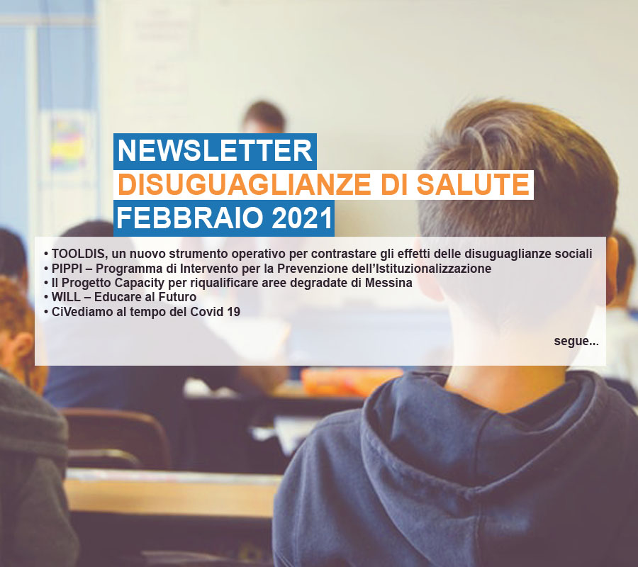 Cover Newsletter Disuguaglianze di salute feb 2021